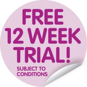 Telecare Sticker for 12 Week Free Trial
